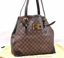 Auth Louis Vuitton Damier Hampstead MM Shoulder Tote Bag N51204 LV A3167