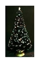84 Inch Black Fibre Optic Christmas Tree with Stars (FO84BKS)