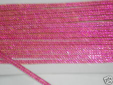 3mtr 2strip PINK iron-on hotfix ROPE diamonte crystal