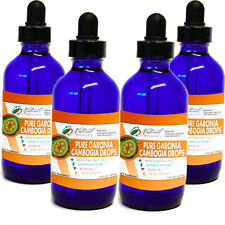 Garcinia Cambogia Drops 60% HCA. Highly-Concentrated, Fast-Acting 4 4oz Bottles
