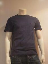 Tommy Hilfiger Delgado a Rayas Ss [Talla M] Camiseta Hombre Camisa Azul Nuevo &