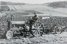 "John Deere 1938 ""Unstyled"" Model B w/ 2 way plow 12 X 18"" Black & White Picture"