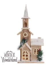 New Winter Wonderland Light-up Wooden Snow House Christmas decoration table top