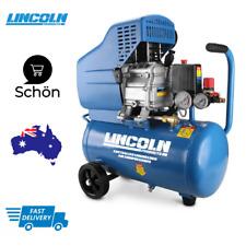 Lincoln Direct Drive Air Compressor Portable High Pressure Air Tank 24L 2HP Pump