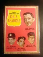 1962 Topps #55 Earned Run Leaders ERA Don Mossi Pappas Stafford Donovan ExMt