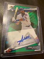 2018 Topps Finest Amed Rosario Green Wave Rookie Auto 21/99