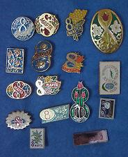 International Women's Day Badge Pin IWD March 8 Марта USSR Propaganda 16 Pcs
