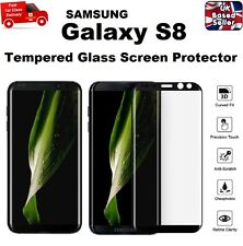 Full 3D Curved Tempered Glass Film Screen Saver For Samsung Galaxy S8 BLACK