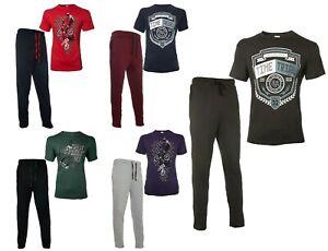 Men's Printed T-shirt Pyjamas Men's Nightwear Summer Pjs Pajamas Loungewear