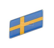 2pcs ABS SWEDEN SE Flag Resin Trunk Rear Emblem Badge Sticker Decal For Volvo