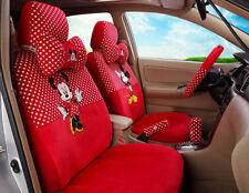 18pcs/set women love plush Cartoon Mickey Mouse universal car seat cover red M32