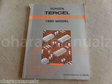 1990 Toyota Tercel Electrical Wiring Diagram Repair Manual  OEM