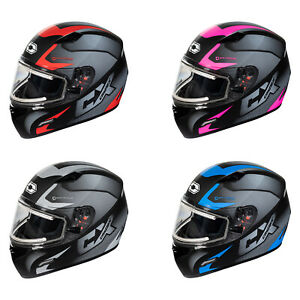 Adult Castle X Mugello Squad Full Face Snowmobile Helmet ATV UTV w/Heated Shield