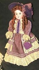 """ELEGANT DOLL CUSTOM DRESSED IN VICT. STYLE-MADE IN GERMANY #63 - 24""""-EX. COND."""