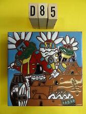 """Ceramic Art Tile 6""""x6"""" Southwest Indian home kachina pueblo pots trivet wall D85"""