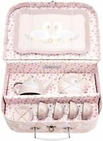 Sass & Belle Freya Swan Childrens Teaset Tea Set & Carry Case Toy Playset