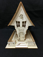 Laser Cut Wooden Tooth Fairy House ~ Decoupage ~ Crafts ~ Model Kit