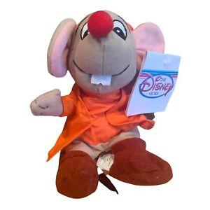 Vintage Disney Store Cinderella Jaq Mouse Mini Bean Bag Plush Stuffed Toy NWT