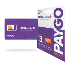 Ultra Mobile SIM Card PAYGO /month Pay as You Go No Contract