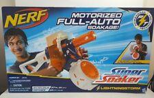 Nerf Super Soaker Lightningstorm Motorized Full Auto Soakage Water Drum New