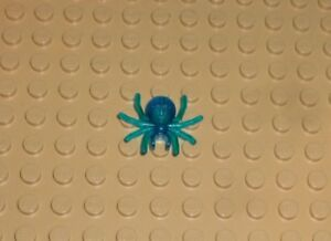 LEGO - Animal - Spider with Round Abdomen and Clip, TRANS D BLUE x1 (30238) A49