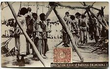 """1904/05 Russia Japan War in Manchuria,""""execution of prisoners"""",real photo RRR!"""