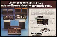 PUBLICITE  CHAINE HAUTE FIDELITE BRANDT  HI-FI  SON   AD  1977 -2h