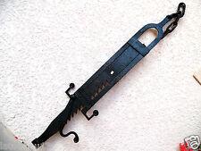 (n°1) old tool, outil ancien , crémaillère de cheminée forgée fin XVIII EME