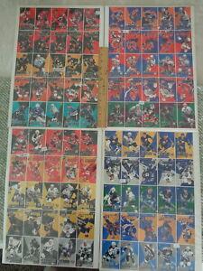 1995-96 HOCKEY - PRO MAGNETS (4) UNCUT PAPER SHEETS - VERY RARE ! LQQK !