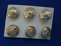 6 X WESSEX BRIGADE 26MM ANODISED STAYBRITE GOLD BUTTONS SMITH /& WRIGHT LIMITED
