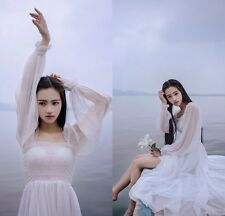 Cheap Sexy Beach Wedding Dresses Sheer Long Sleeve Prom Party Bridal Gown Custom