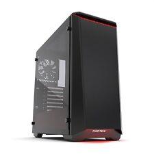 "Phanteks PH-EC416PTG_BR Eclipse P400 Steel ATX Mid Tower Case Black/Red, Glass"""