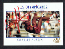 Charles Austin #85 signed autograph auto 1992 Impel Olympic Trading Card