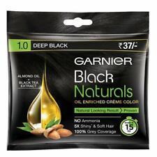 Garnier Black Naturals Hair Color - 20ml+20g | Oil Enriched Cream Hair Colour