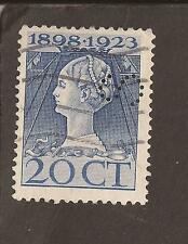 "Países Bajos 1923. Scott 128 (usado) Perfin ""S"". 2 X Escanea"