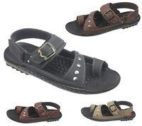 Mens Fashion Sandal Casual Flip Flop Beach Walking Leather Slipper Size