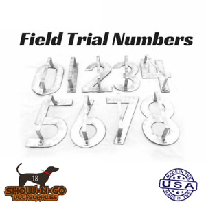 Field Trial Number Stencils for Dog Blankets and Jackets