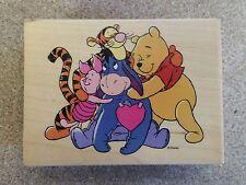 Rubber Stamp Disney Winnie Pooh Tigger Eeyore Piglet Hugs All Around Friends Hug