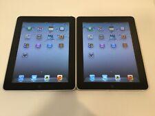 Lot of 2x Apple iPad 1st Gen 32GB, Wi-Fi, 9.7in - Black - Good Working Condition