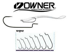 Owner Offset Shank Worm Hooks 5101 - Choose Size