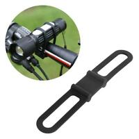 Silicon Strap Bandage Bike Torch Band Flashlight Clip Bicycle Light Mount Holder
