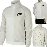 NEW Nike Sportswear Men's Track Jacket Light Bone OFF-WHITE Sz LARGE BV4603-073