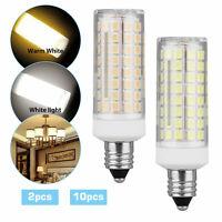10pcs E11 LED Light Bulb 9W 110V 120V Dimmable 102 LED Ceramics Ceiling Fan Lamp