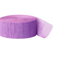 Pack of 4 Crepe Paper Streamers Party Decorations Wedding Birthday Rolls -Lilac