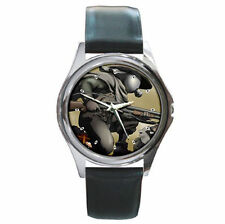 Anime Desert Punk Shotgun Gasmask leather wrist watch