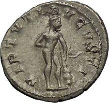 "GORDIAN III 241AD Ancient Silver Roman  Coin Hero ""Farnese"" Hercules i52288"