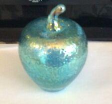 More details for large heron british iridescent glass apple 🍎 art handmade glass paperweight.