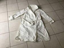 Trench imper manteau VICTOIRE taille 40 coton blanc bon état