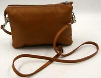 Frederic T Paris Brown Leather Women's Crossbody Messenger Bag