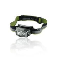 Linternas linteras de cabeza de color principal negro LED para acampada y senderismo